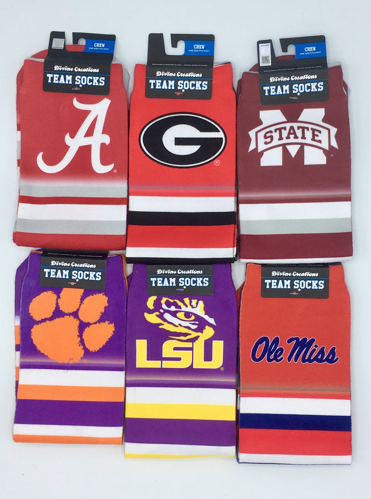 GEORGIA BULLDOGS TEAM SOCKS NEW SUBLIMATED CREW ANKLE NCAA UNISEX PICK A SIZE COLLEGE