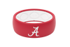 ALABAMA CRIMSON TIDE SILICONE RING WEDDING COLLEGE GROOVE GAMEDAY
