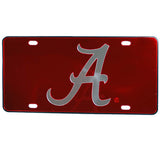 ALABAMA CRIMSON TIDE MIRRORED CAR TAG LICENSE PLATE RED A LOGO SIGN UNIVERSITY