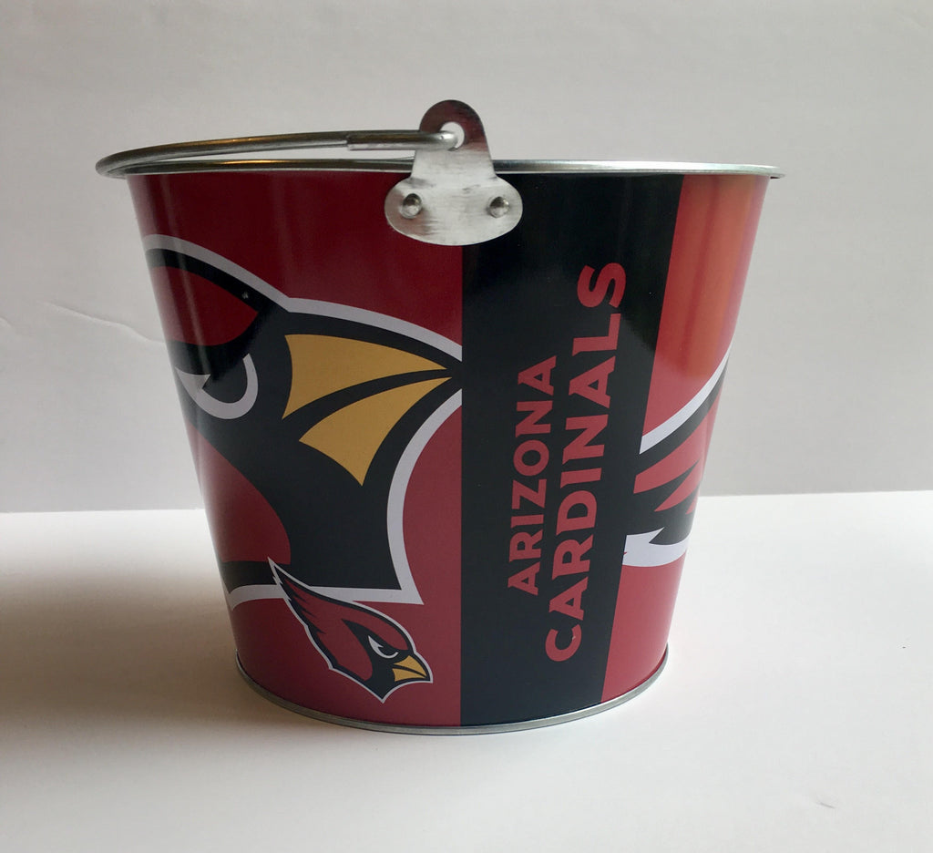 Nfl Aluminum Bucket 5 Qt Drink Party Pail Ice Metal Choose Your Team My Team Depot