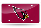 ARIZONA CARDINALS MIRROR LICENSE PLATE RED
