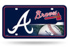 ATLANTA BRAVES LICENSE PLATE MLB BASEBALL METAL