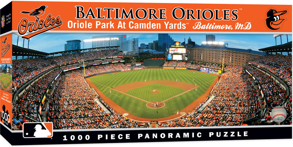 BALTIMORE ORIOLES PANORAMIC JIGSAW PUZZLE MLB 1000 PC ORIOLE PARK AT CAMDEN YARDS