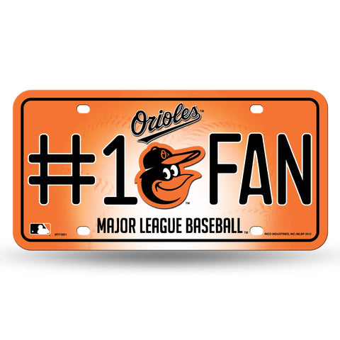 BALTIMORE ORIOLES CAR TRUCK TAG LICENSE PLATE MLB BASEBALL METAL SIGN MAN CAVE