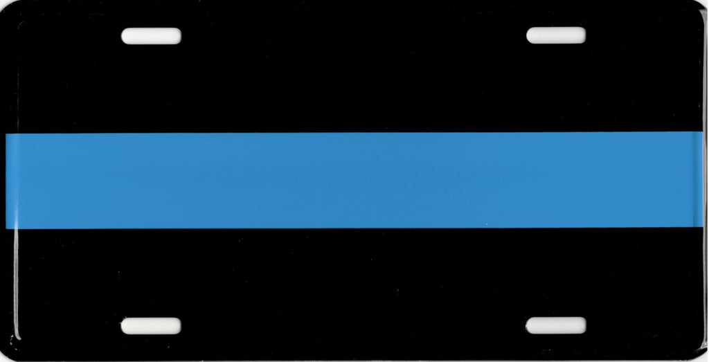 Police Thin Blue Line Aluminum Car Truck Tag License Plate Law To Serve & Protect