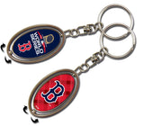 BOSTON RED SOX 2018 WORLD SERIES CHAMPIONS 2018 KEY RING SPINNER KEYCHAIN MLB