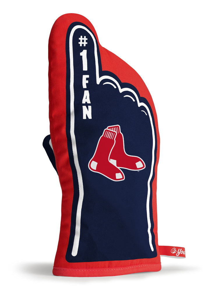BOSTON RED SOX #1 FAN OVEN MITT GAMEDAY GRILL TAILGATE MLB GLOVE HEAT RESISTANT