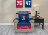 BOSTON RED SOX FURNITURE PROTECTOR COVER RECLINER REVERSIBLE ELASTIC STRAPS MLB