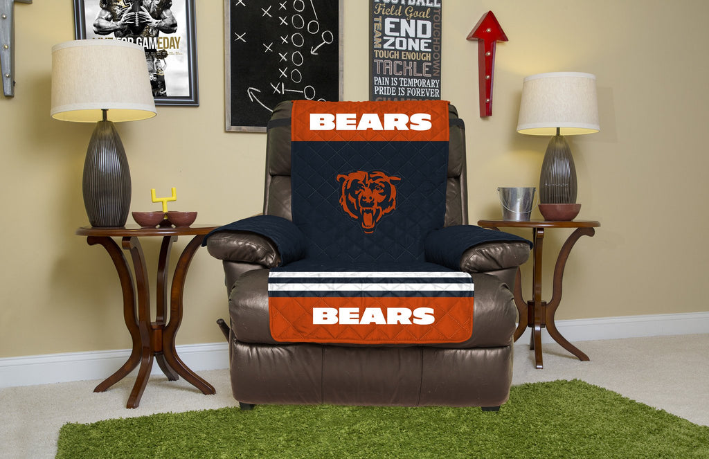 CHICAGO BEARS FURNITURE PROTECTOR COVER RECLINER REVERSIBLE FREE SHIPPING!!