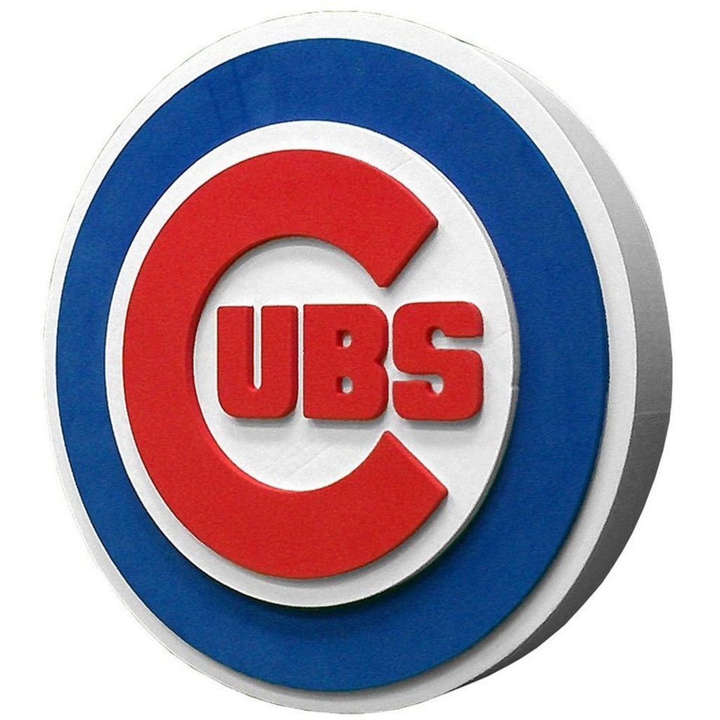 CHICAGO CUBS 3D FOAM WALL LOGO ROUND SIGN FAN MANCAVE OFFICE SPORTS MLB ROOM