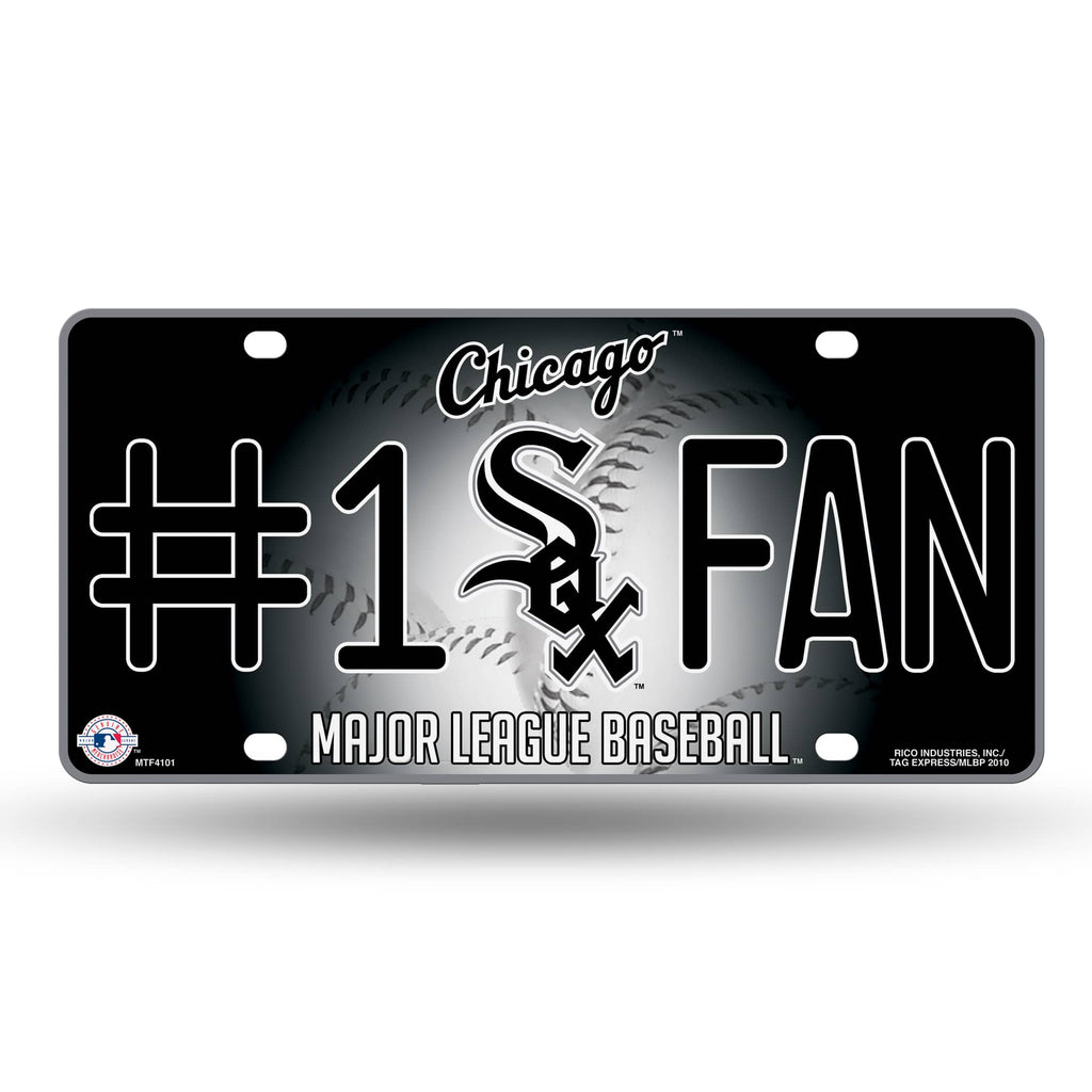 CHICAGO WHITE SOX  #1 FAN CAR TRUCK TAG LICENSE PLATE MLB BASEBALL METAL SIGN