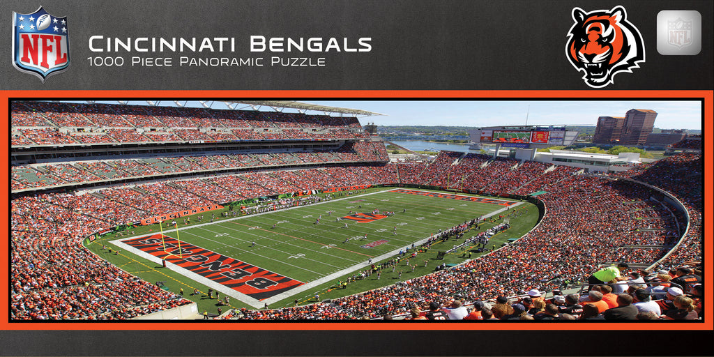 CINCINNATI BENGALS STADIUM PANORAMIC JIGSAW PUZZLE NFL 1000 PC