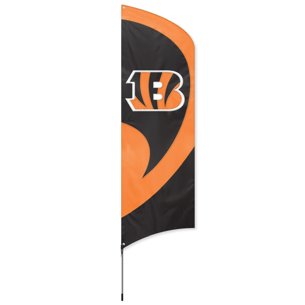 CINCINNATI BENGALS  8.5 FOOT TALL TEAM FLAG 11.5' POLE SIGN BANNER 8 1/2' TAILGATE