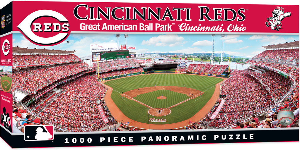 CINCINNATI REDS GREAT AMERICAN BALL PARK PANORAMIC JIGSAW PUZZLE MLB 1000 PC
