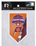 CLEMSON TIGERS NATIONAL CHAMPIONS 2018 STATIC CLING DIE-CUT DECAL NCAA  AUTO