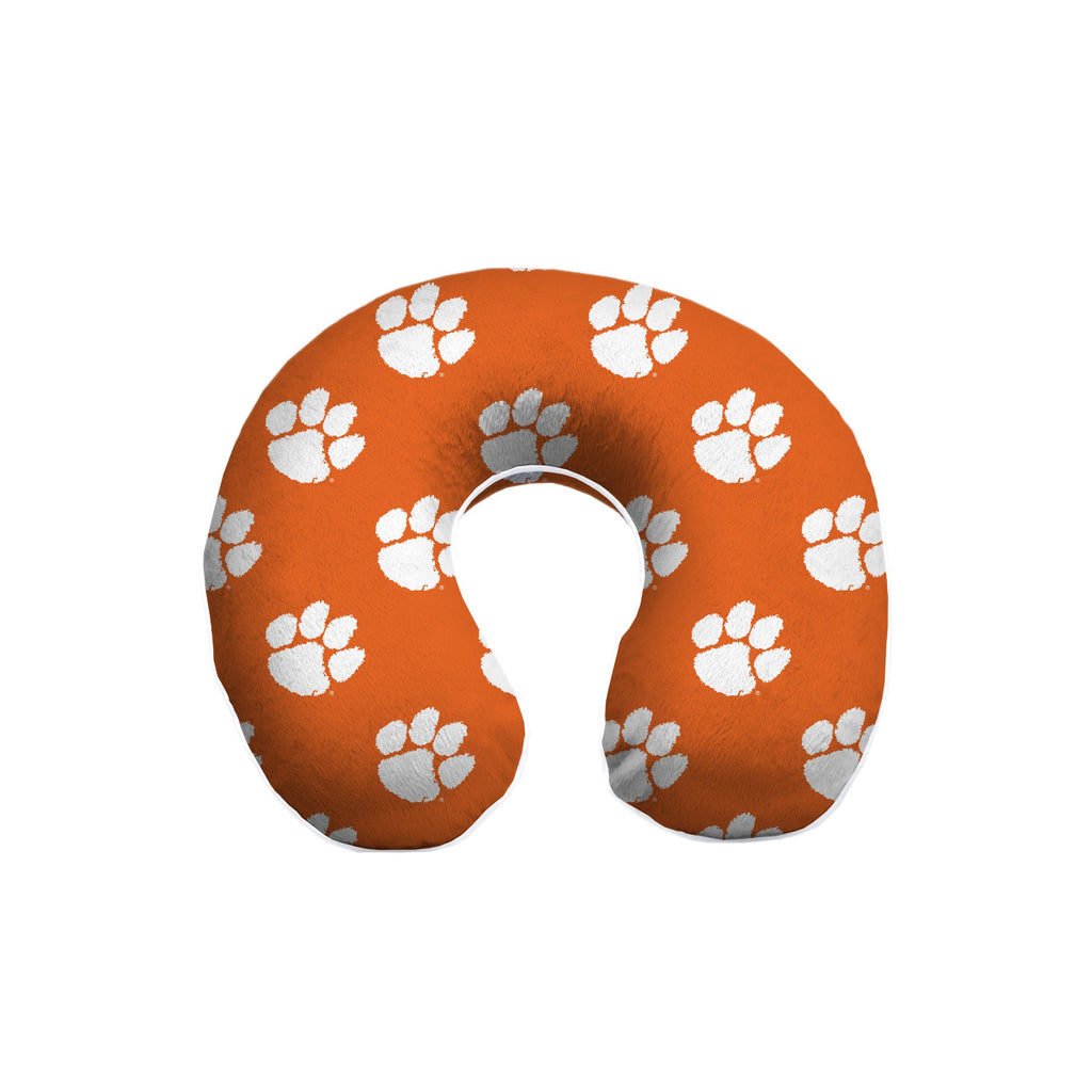 CLEMSON TIGERS MEMORY FOAM TRAVEL NECK PILLOW RELAXATION TRIP FREE SHIPPING!