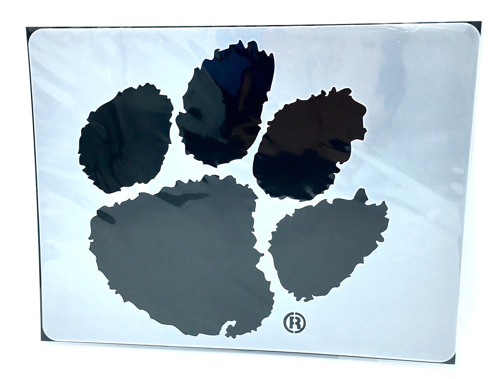 "CLEMSON TIGERS PAW PRINT MINI STENCIL CRAFT 14.5"" X 11"" REUSABLE PROJECTS NCAA COLLEGE"