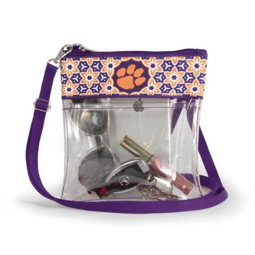 CLEMSON TIGERS CLEAR GAME DAY CROSSBODY BAG STADIUM APPROVED PURSE