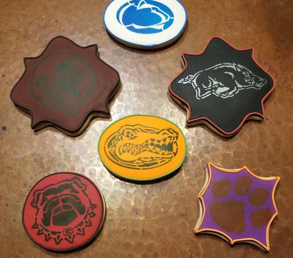 IOWA HAWKEYES STENCIL CULINARY CRAFTING DECORATING COOKIES CAKES CUPCAKES NCAA