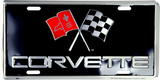 Corvette License Plate Metal Chevrolet Sign Embossed Car Auto Racing Flags Chevy