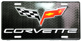 CORVETTE CHEVY LICENSE PLATE ALUMINUM CHEVROLET SIGN EMBOSSED AUTO RACING FLAGS