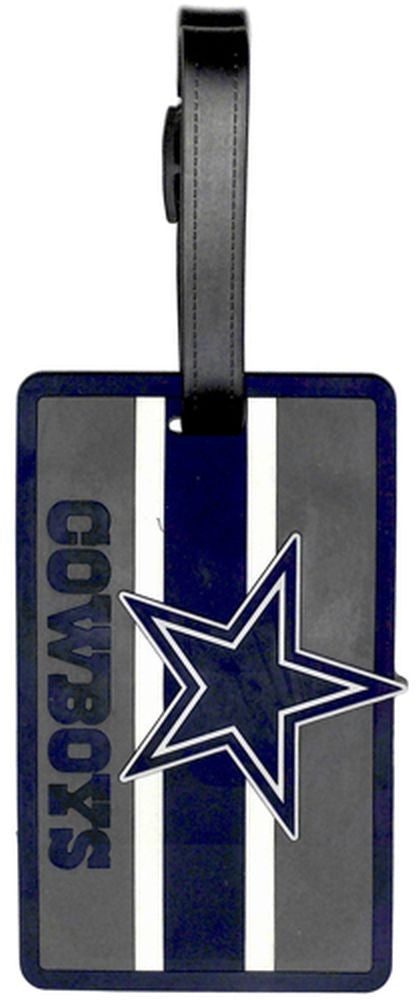 DALLAS COWBOYS SOFT BAG TAG FOOTBALL LUGGAGE NFL ID INFORMATION TRAVEL