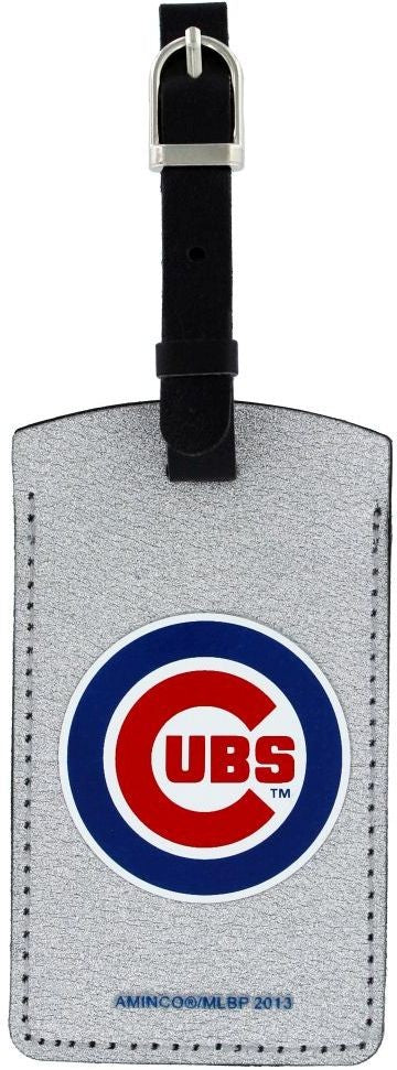 CHICAGO CUBS SPARKLE BAG TAG BASEBALL LUGGAGE MLB ID INFORMATION TRAVEL