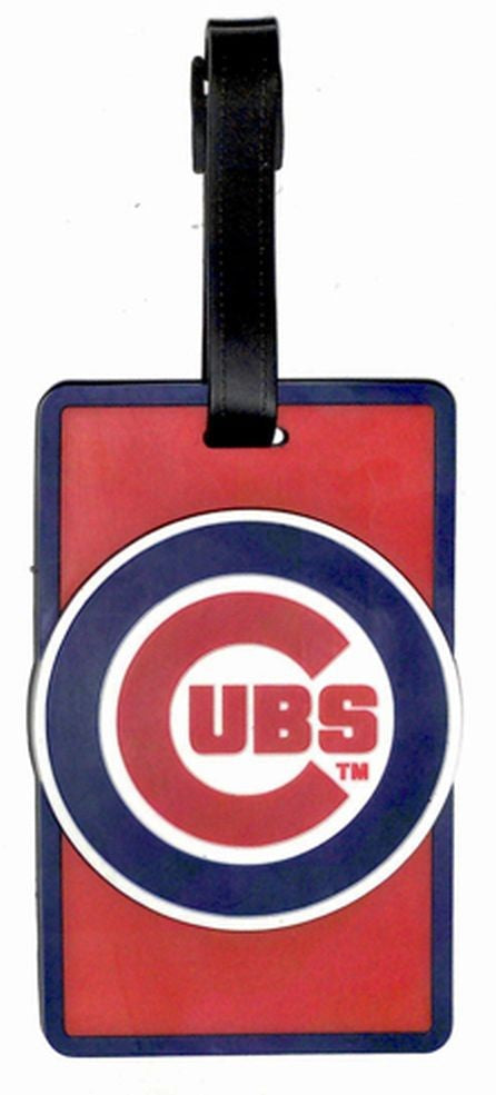CHICAGO CUBS SOFT BAG TAG BASEBALL LUGGAGE MLB ID INFORMATION TRAVEL