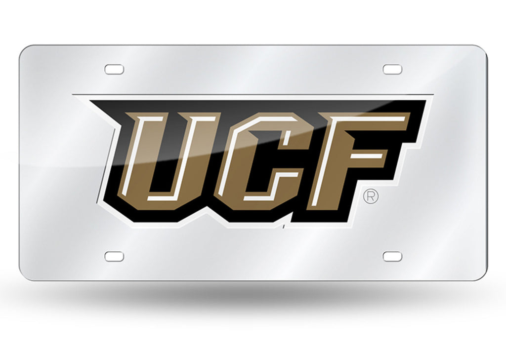 UCF KNIGHTS CENTRAL FLORIDA SILVER MIRROR CAR TAG LASER LICENSE PLATE UNIVERSITY