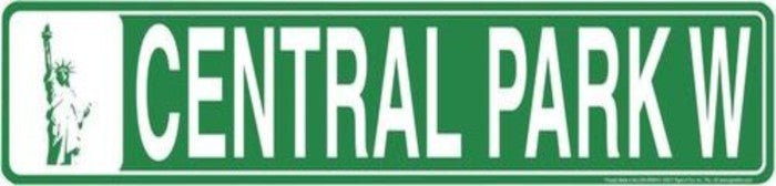CENTRAL PARK W STREET SIGN