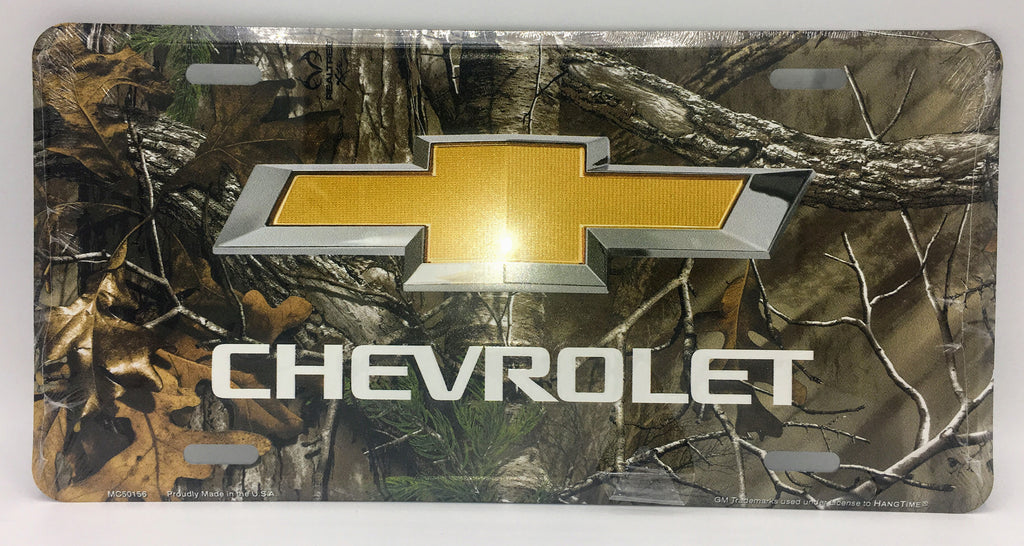 CHEVROLET LOGO CAMO LICENSE PLATE