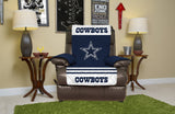 DALLAS COWBOYS FURNITURE PROTECTOR COVER RECLINER REVERSIBLE ELASTIC STRAPS NFL