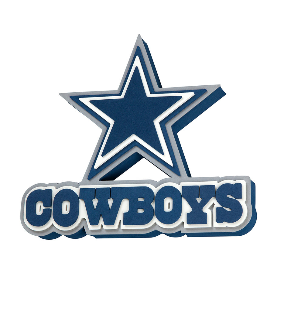 DALLAS COWBOYS 3D FOAM WALL LOGO SIGN FAN MANCAVE OFFICE SPORTS ROOM INDOOR OUTDOOR