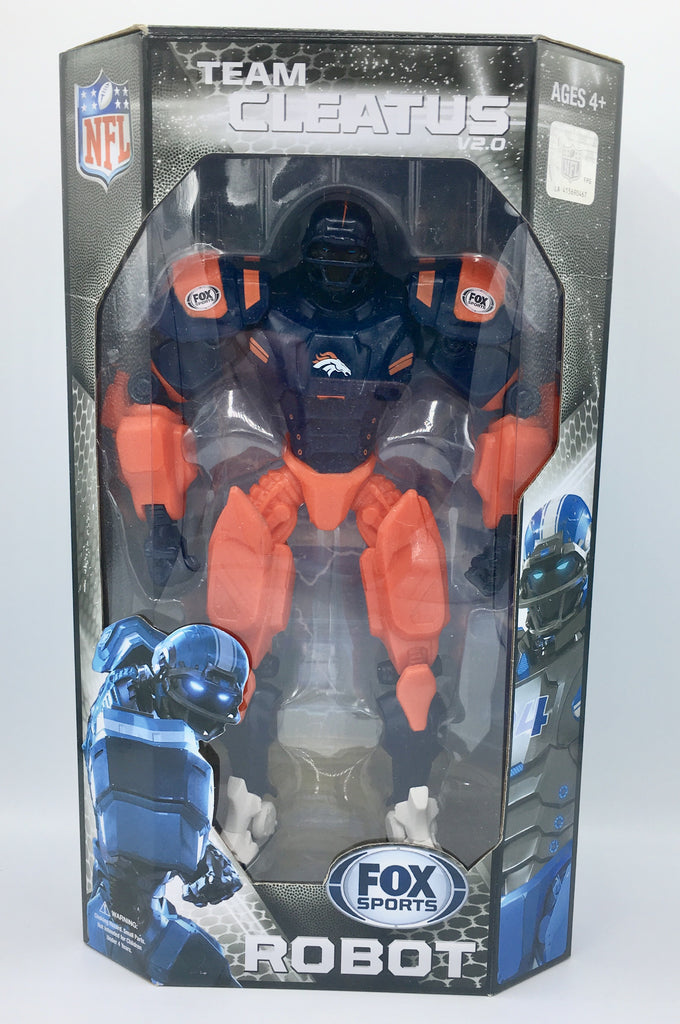 "DENVER BRONCOS NFL FOX SPORTS 10"" ROBOT CLEATUS V2.0 ACTION FIGURE COLLECTOR"