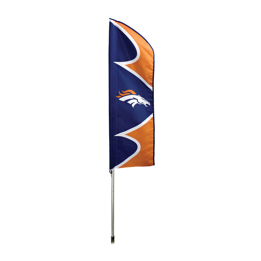 DENVER BRONCOS 6 FOOT TALL SWOOPER DOUBLE SIDED TEAM FLAG