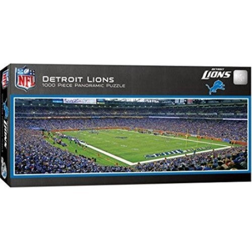 DETROIT LIONS SPORTS AUTHORITY STADIUM PANORAMIC JIGSAW PUZZLE NFL 1000 PC