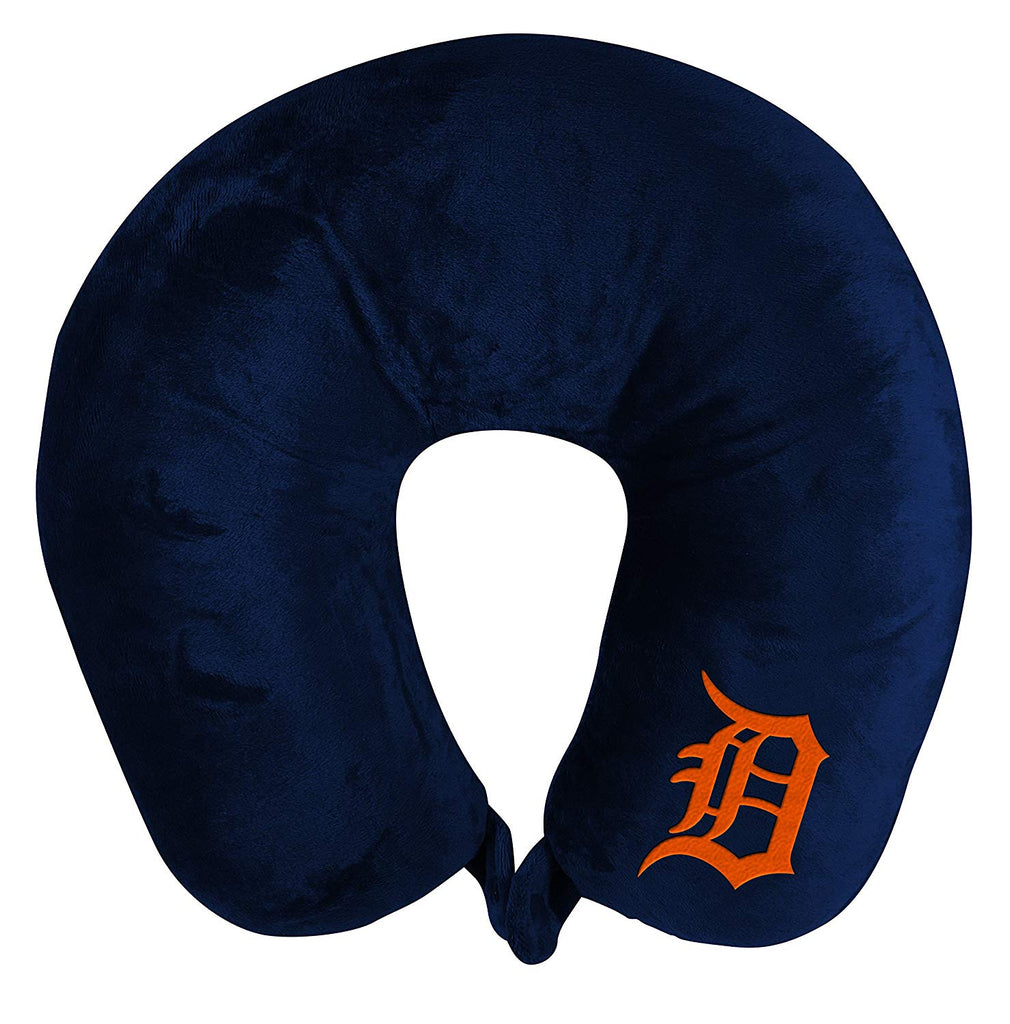 DETROIT TIGERS APPLIQUE TRAVEL NECK PILLOW TEAM LOGO COLOR SNAP CLOSURE POLYESTER MLB