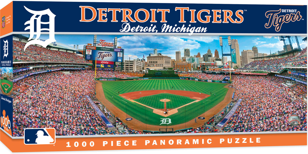 DETROIT TIGERS STADIUM PANORAMIC JIGSAW PUZZLE NHL 1000 PC COMERICA PARK