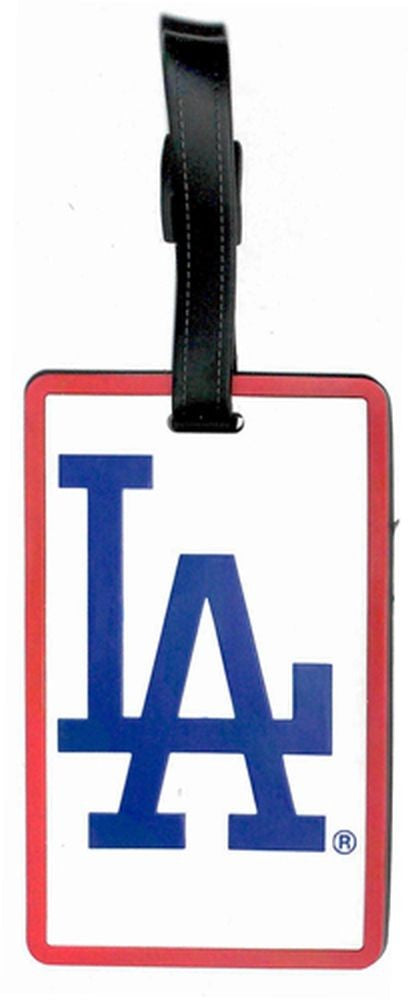 LA DODGERS SOFT BAG TAG BASEBALL LUGGAGE MLB ID INFORMATION TRAVEL LA