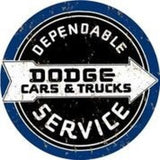 DODGE CARS & TRUCKS DEPENDABLE SERVICE 12