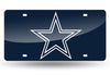 DALLAS COWBOYS MIRROR CAR TAG LASER LICENSE PLATE BLUE SIGN NFL