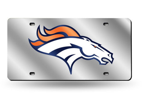 DENVER BRONCOS MIRROR CAR TAG LASER LICENSE PLATE BLUE SIGN NFL