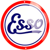 ESSO GAS OIL TIN METAL ROUND SIGN 12