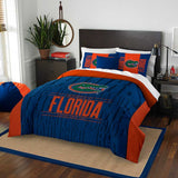 FLORIDA GATORS FULL/QUEEN COMFORTER AND SHAM 3PC SET NORTHWEST NCAA MODERN TAKE