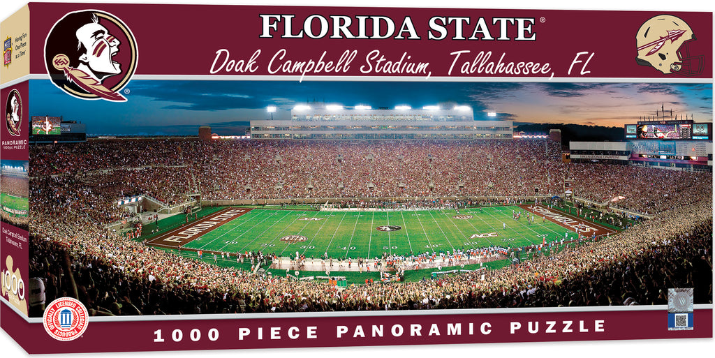 FLORIDA STATE SEMINOLES STADIUM PANORAMIC JIGSAW PUZZLE 1000 PC DOAK CAMPBELL