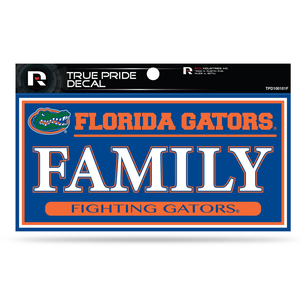 "FLORIDA GATORS TRUE PRIDE DECAL FAMILY FIGHTING GATORS AUTO 3"" X 6"""