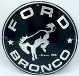 FORD BRONCO ROUND METAL 12