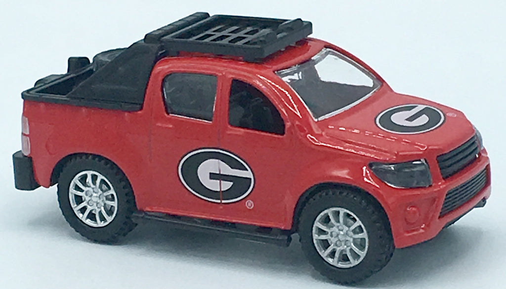 GEORGIA BULLDOGS TEAM TRUCKS PULL BACK ACTION DIE CAST COLLECTIBLE UNIVERSITY TOY