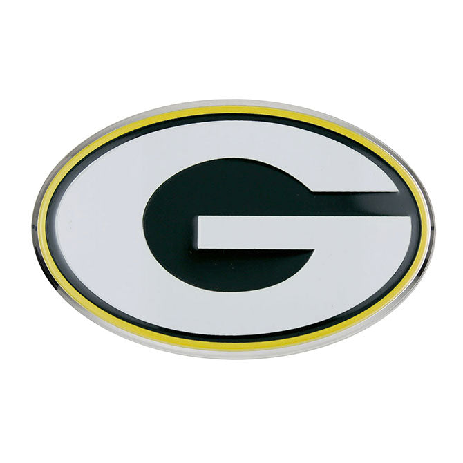 Green Bay Packers Color Team Emblem Aluminum Auto Laptop Sticker Decal Embossed