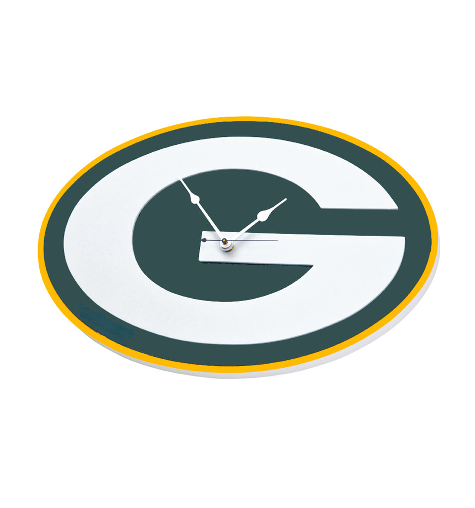 GREEN BAY PACKERS 3D FOAM WALL CLOCK  DEN OFFICE MANCAVE SPORTS ROOM LOGO